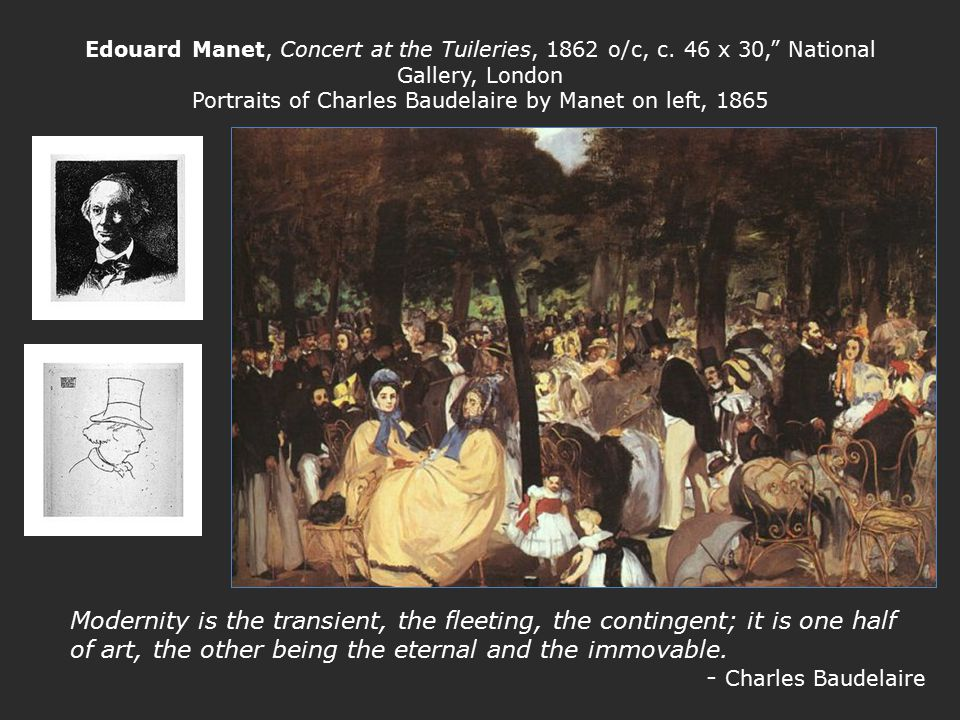 Edouard Manet, Concert at the Tuileries, 1862 o/c, c