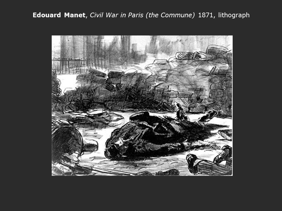 Edouard Manet, Civil War in Paris (the Commune) 1871, lithograph