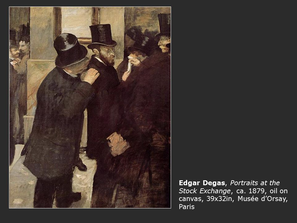 Edgar Degas, Portraits at the Stock Exchange, ca