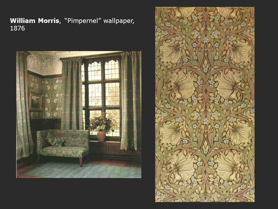 William Morris, Pimpernel wallpaper, 1876