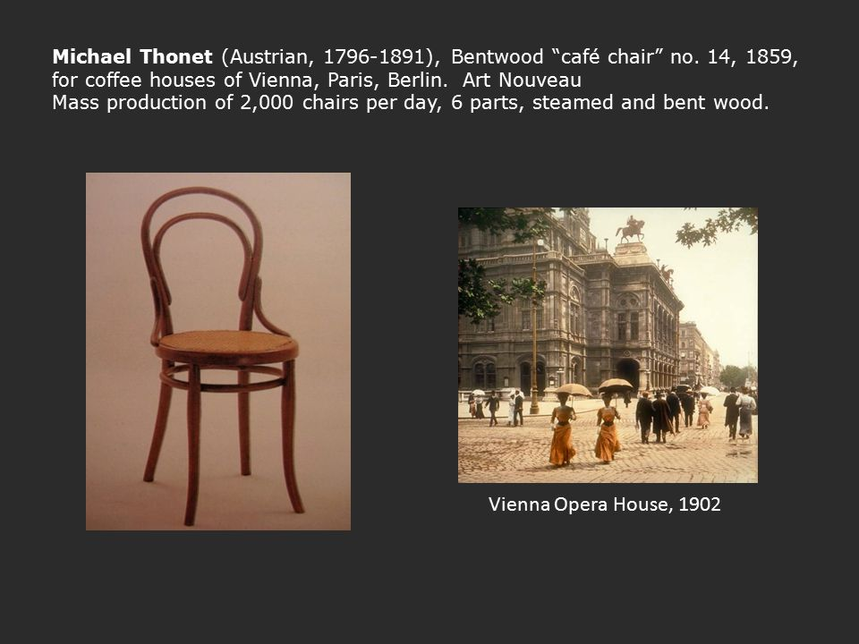 Michael Thonet (Austrian, 1796-1891), Bentwood café chair no