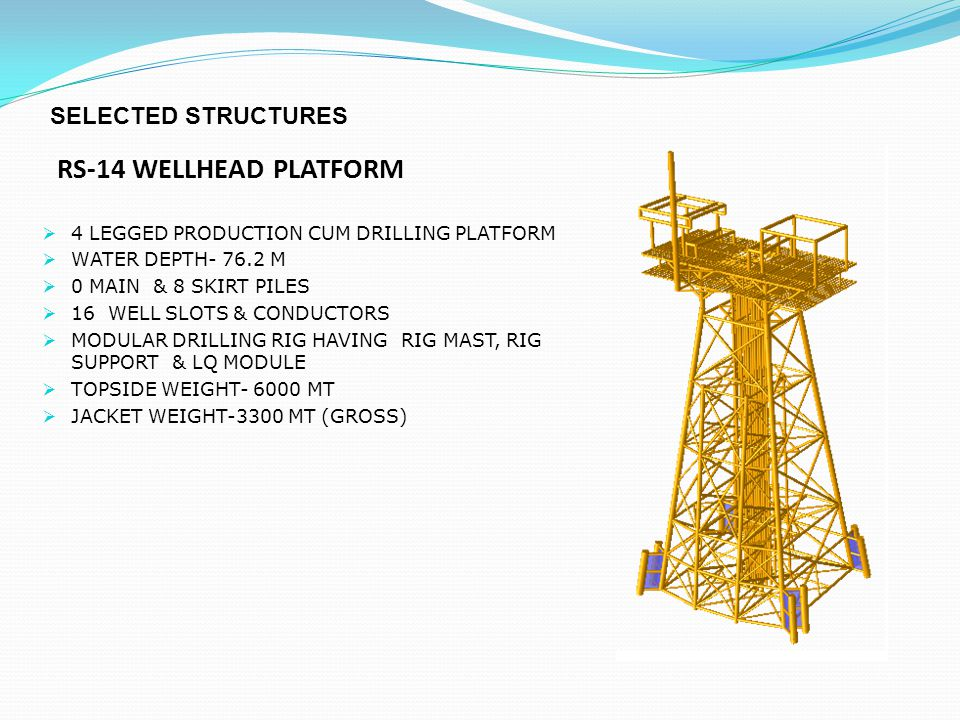 RS-14 WELLHEAD PLATFORM SELECTED STRUCTURES