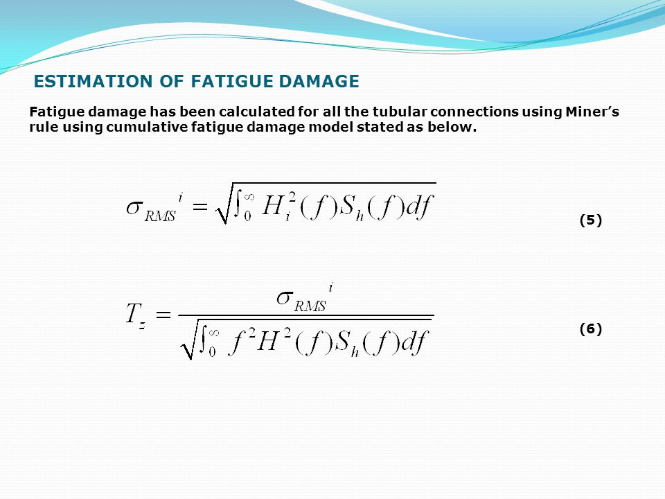 ESTIMATION OF FATIGUE DAMAGE