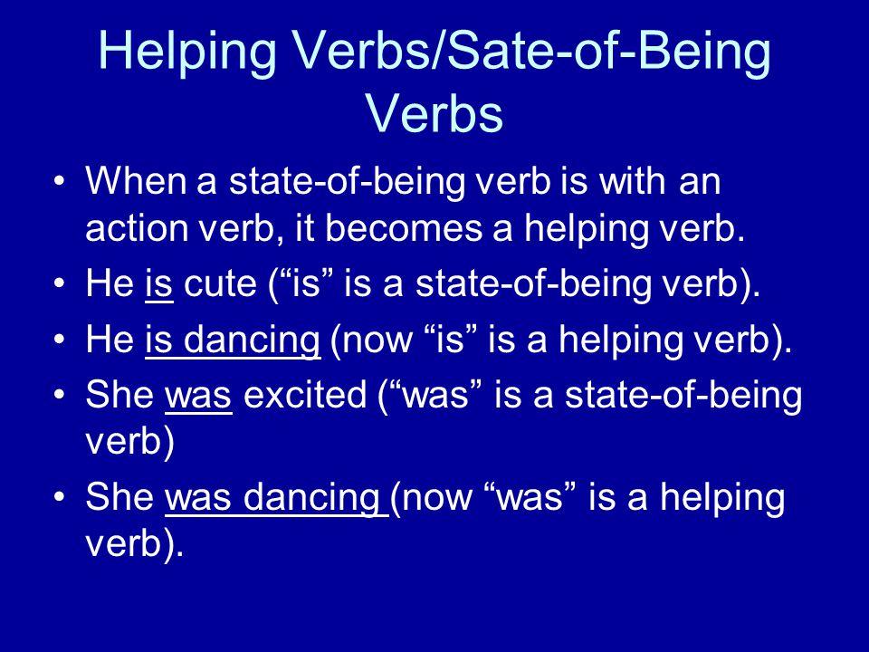 Helping Verbs/Sate-of-Being Verbs