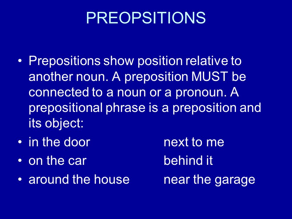 PREOPSITIONS