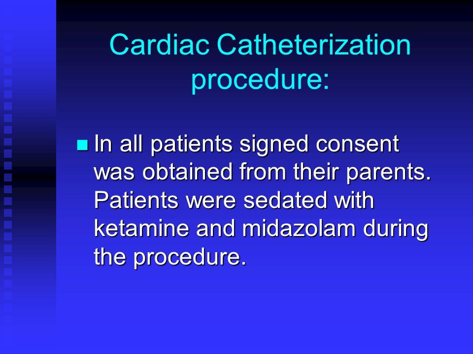 Cardiac Catheterization procedure: