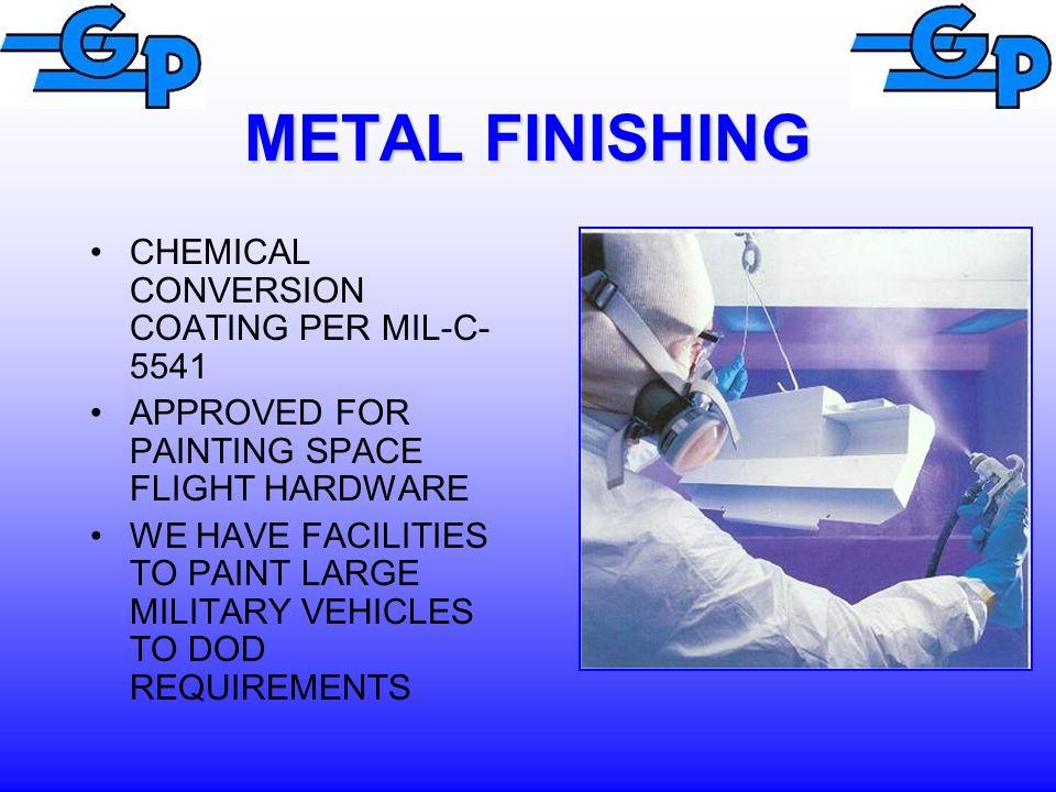 METAL FINISHING CHEMICAL CONVERSION COATING PER MIL-C-5541