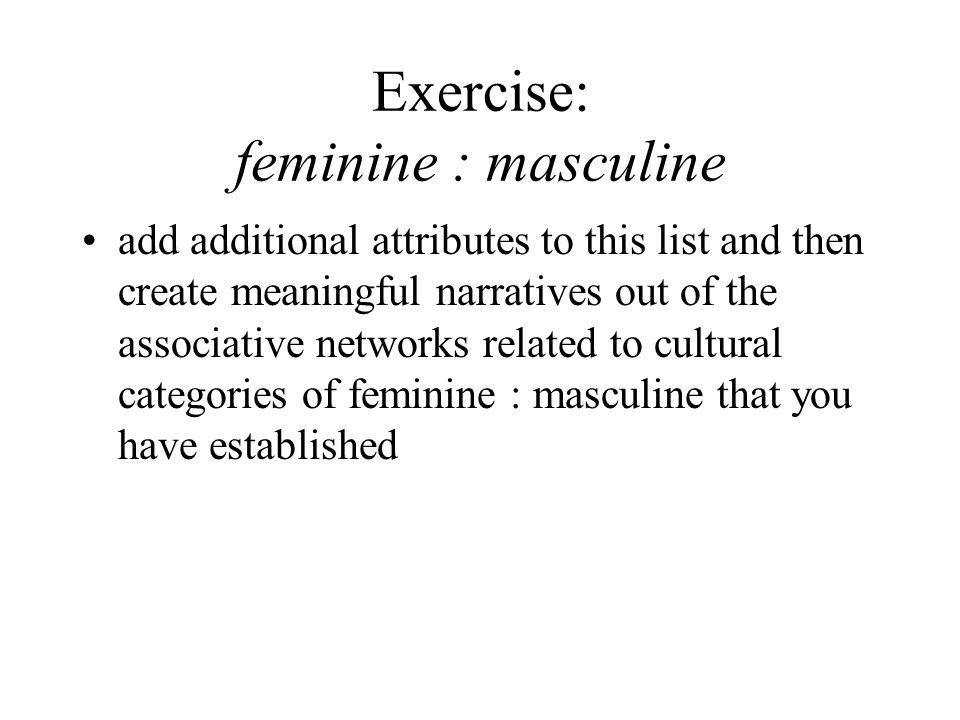 Exercise: feminine : masculine