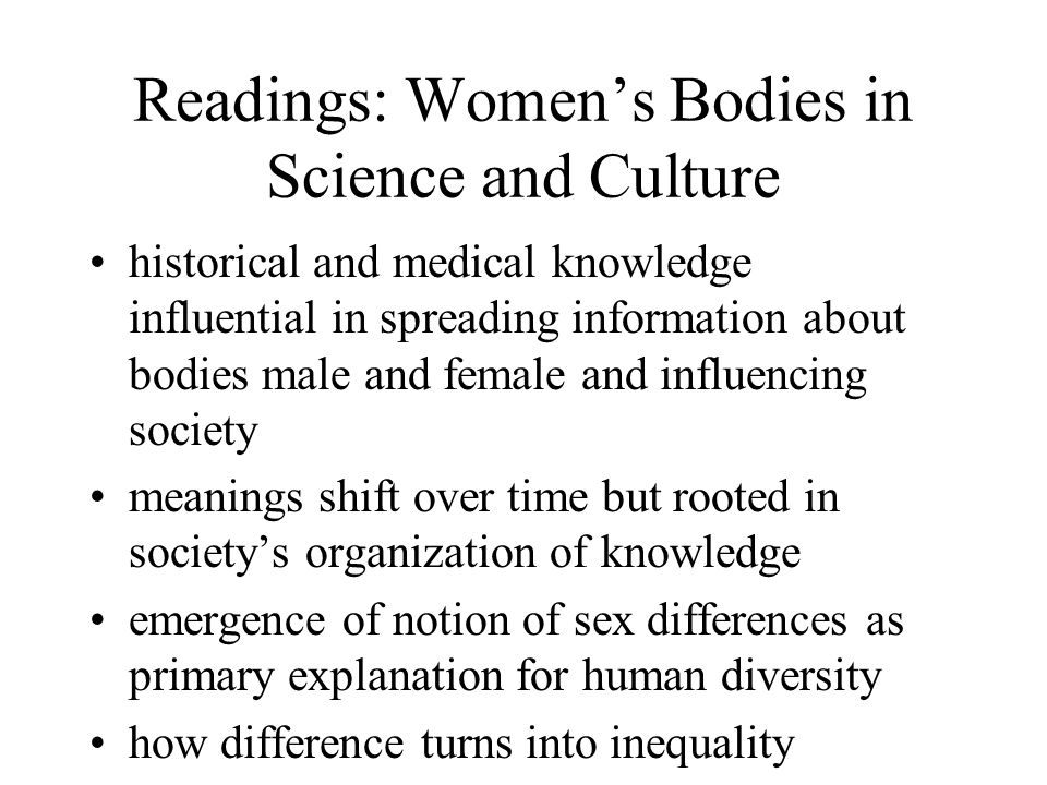 Readings: Women's Bodies in Science and Culture