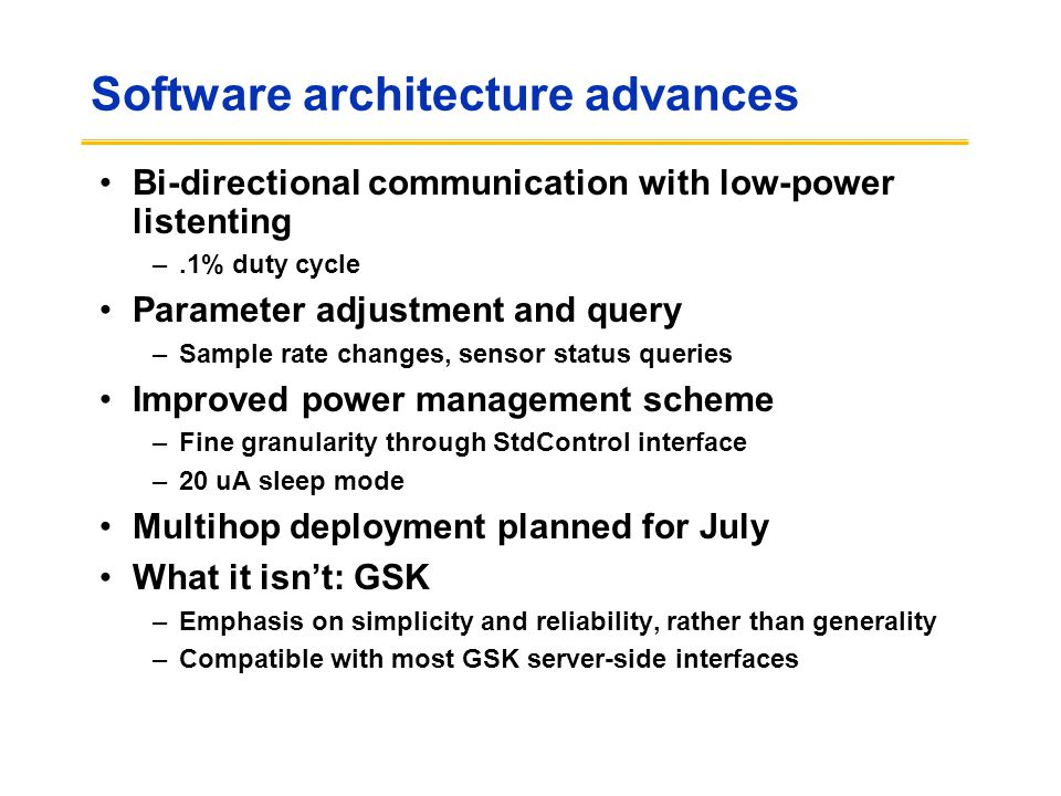 Software architecture advances