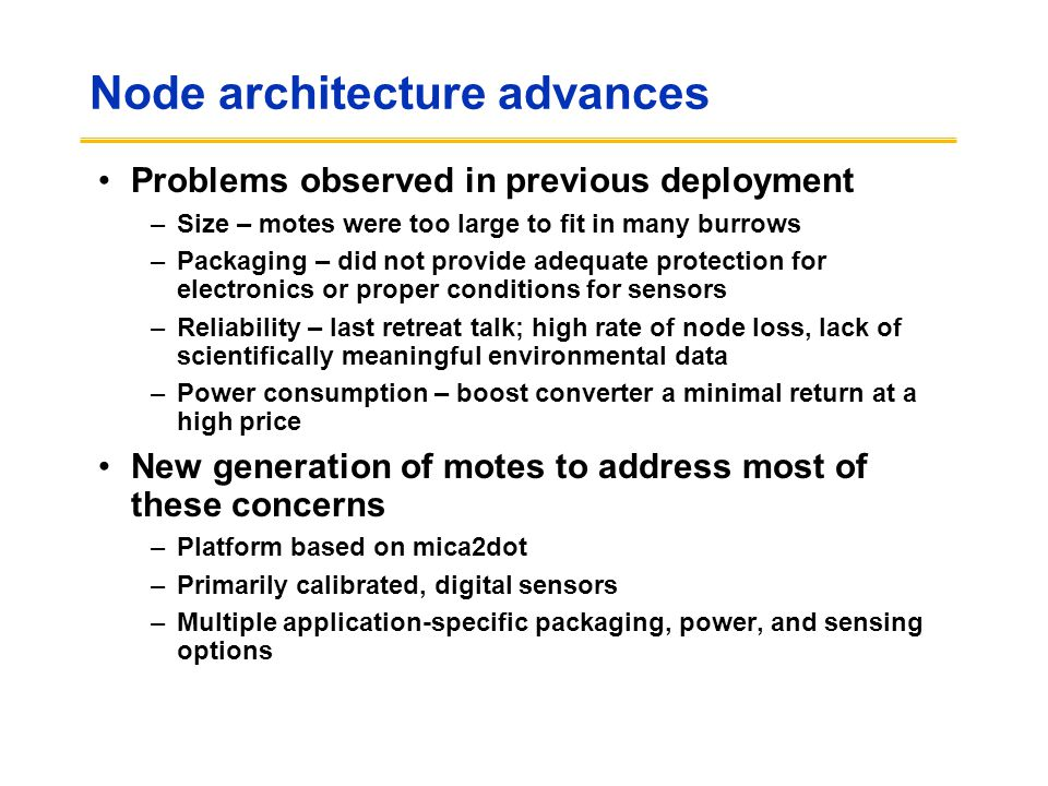 Node architecture advances