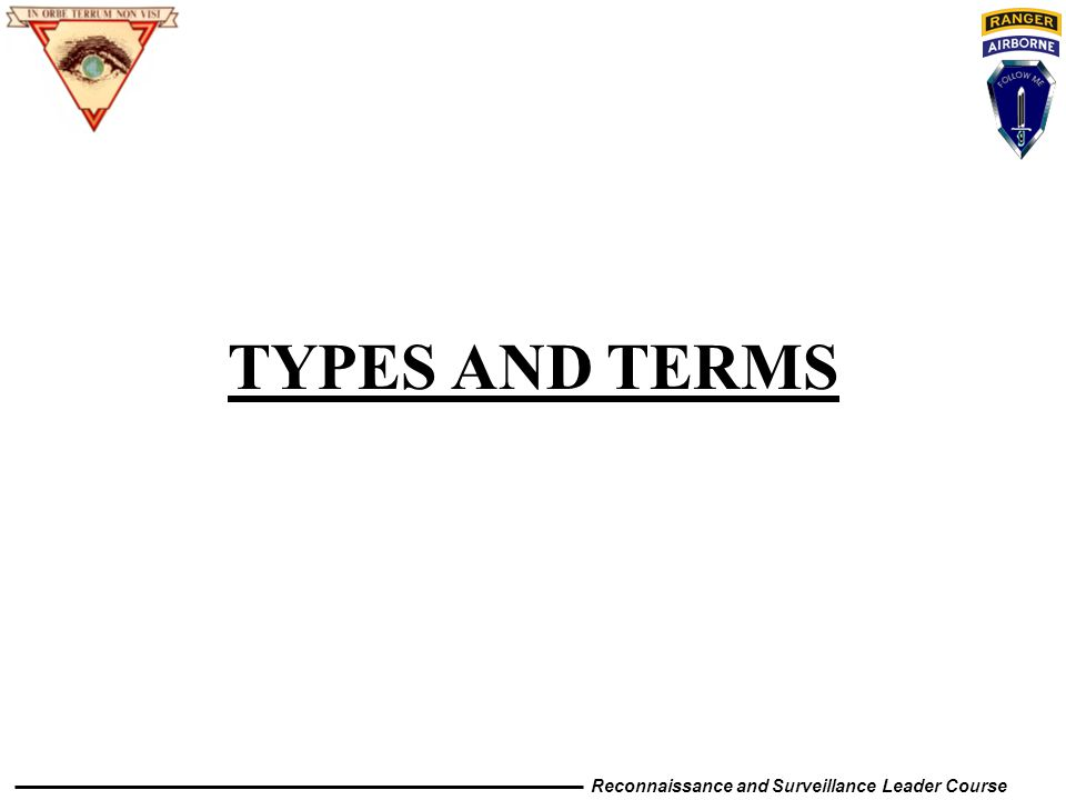TYPES AND TERMS