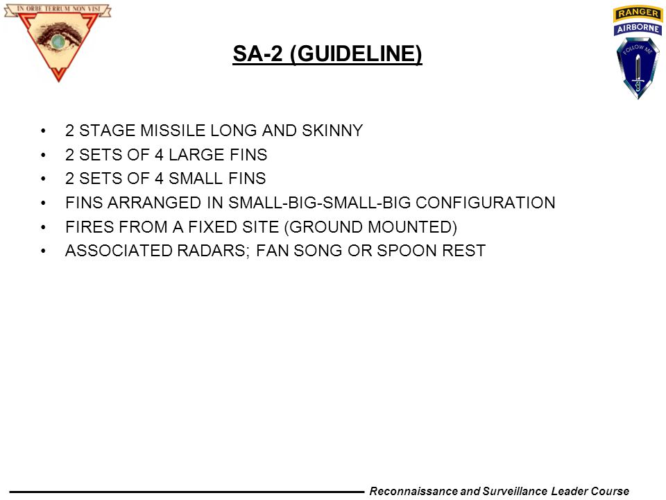 SA-2 (GUIDELINE) 2 STAGE MISSILE LONG AND SKINNY
