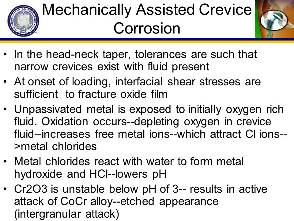 Mechanically Assisted Crevice Corrosion
