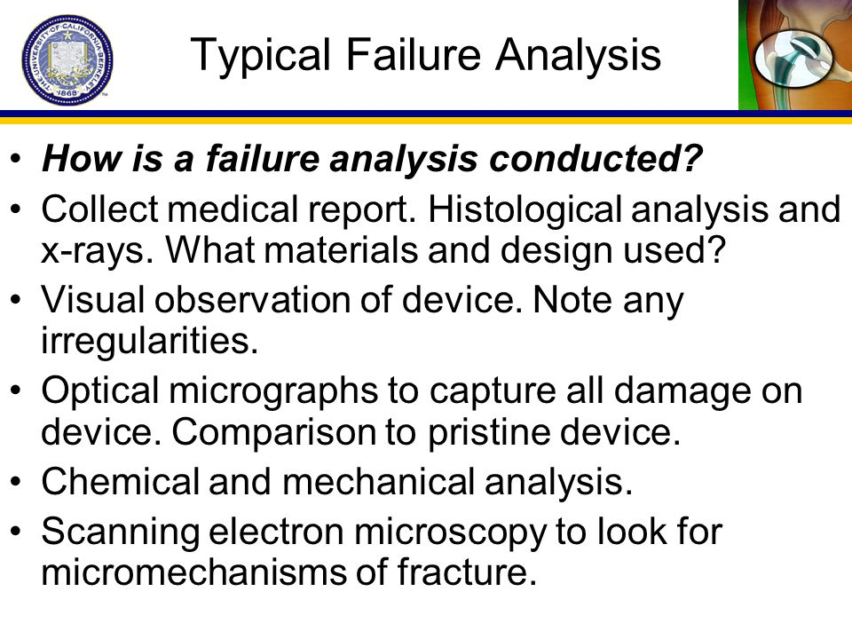 Typical Failure Analysis