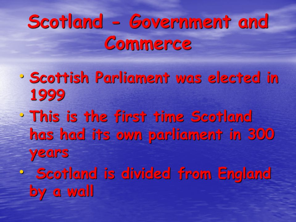 Scotland - Government and Commerce