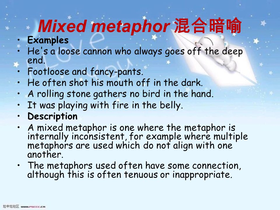 Submerged Metaphor Examples Image Collections Example Cover Letter