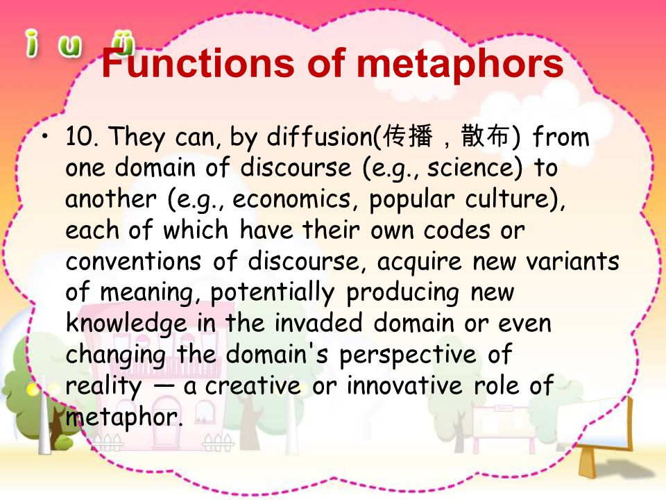Functions of metaphors