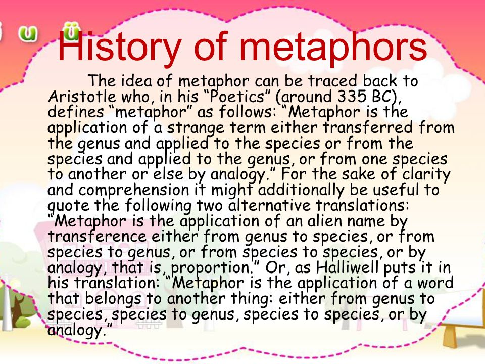 History of metaphors