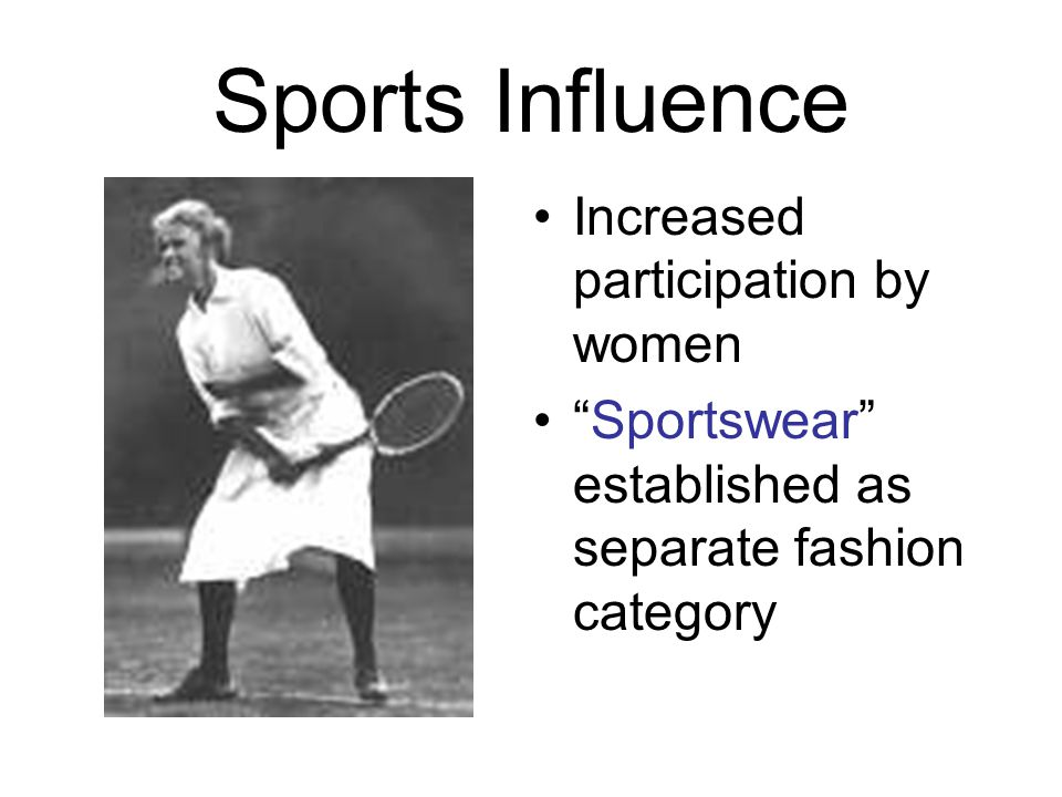 Sports Influence Increased participation by women
