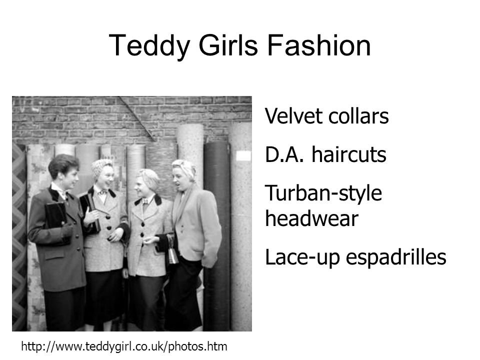Teddy Girls Fashion Velvet collars D.A. haircuts Turban-style headwear