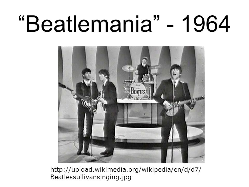 Beatlemania - 1964 In the early years of The Beatles, the mod fashion was popular.