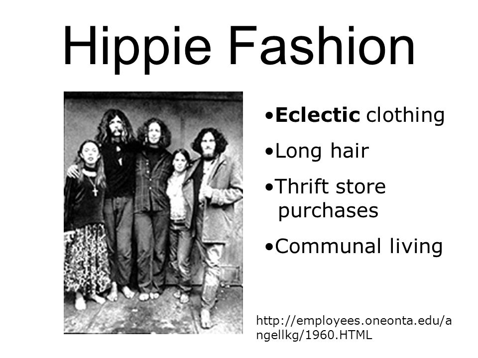 Hippie Fashion Eclectic clothing Long hair Thrift store purchases