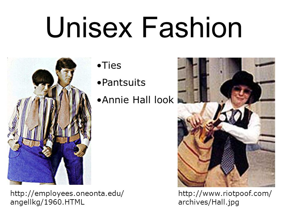 Unisex Fashion Ties Pantsuits Annie Hall look