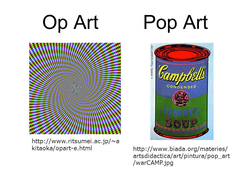 Op Art Pop Art http://www.ritsumei.ac.jp/~akitaoka/opart-e.html