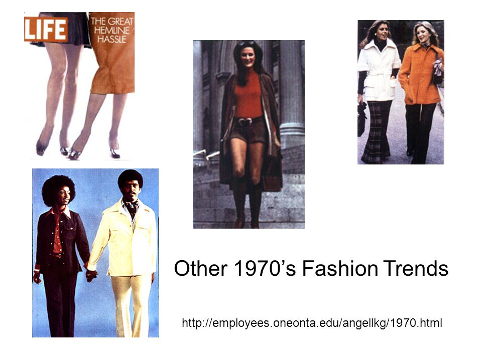 Other 1970's Fashion Trends