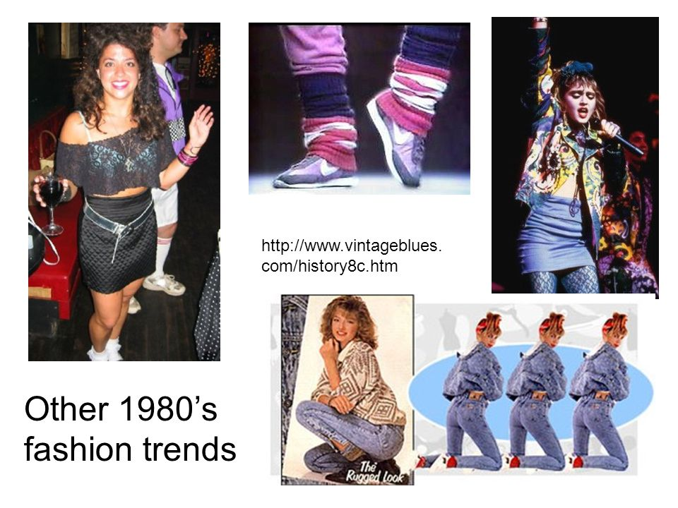 Other 1980's fashion trends