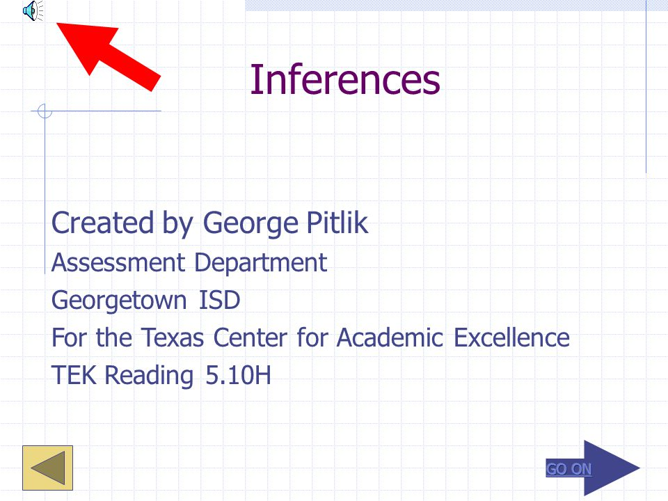 Inferences Created by George Pitlik Assessment Department