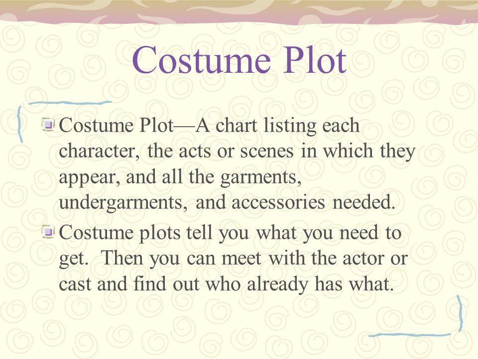 Costume Plot