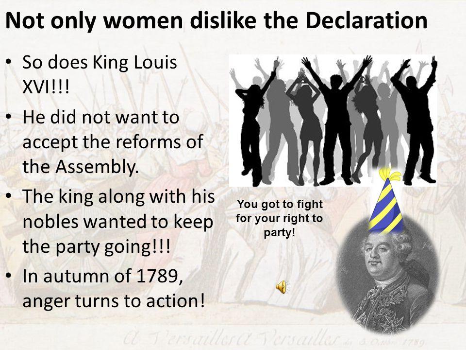 Not only women dislike the Declaration