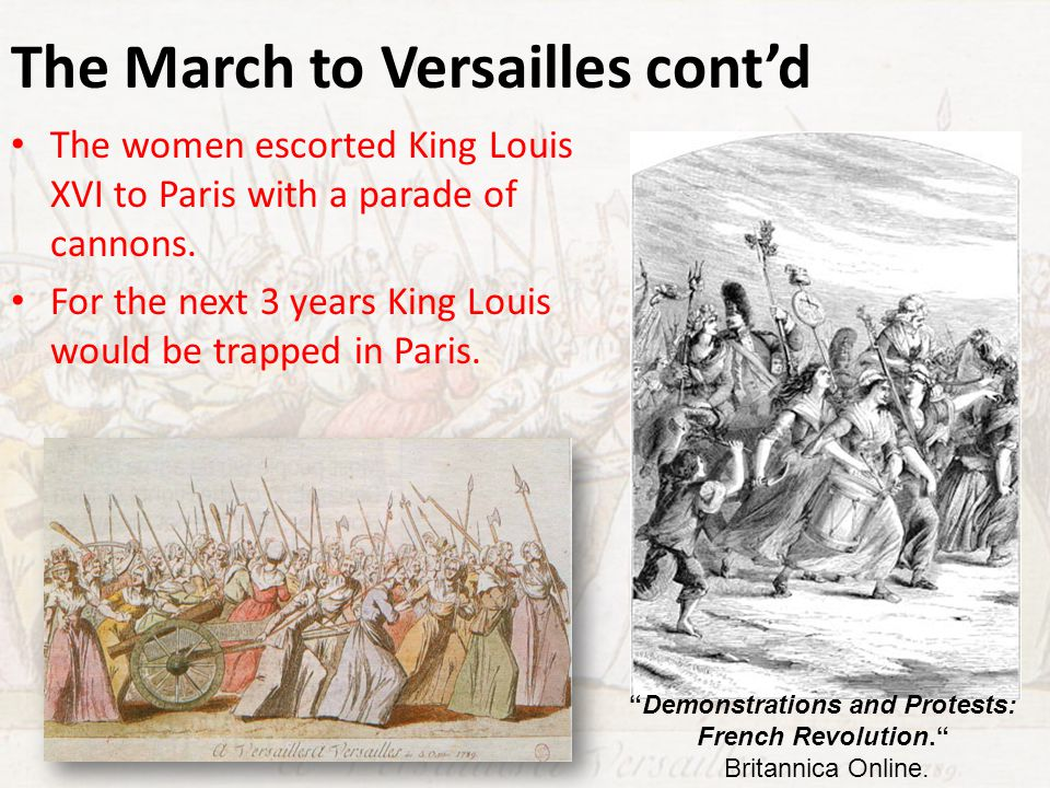 The March to Versailles cont'd