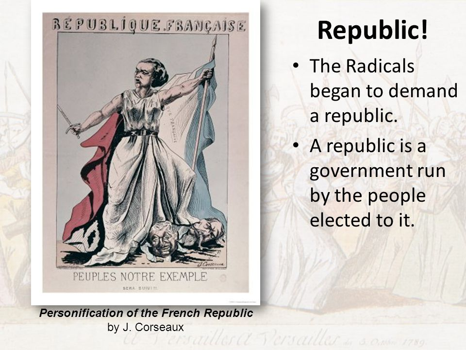 Personification of the French Republic by J. Corseaux
