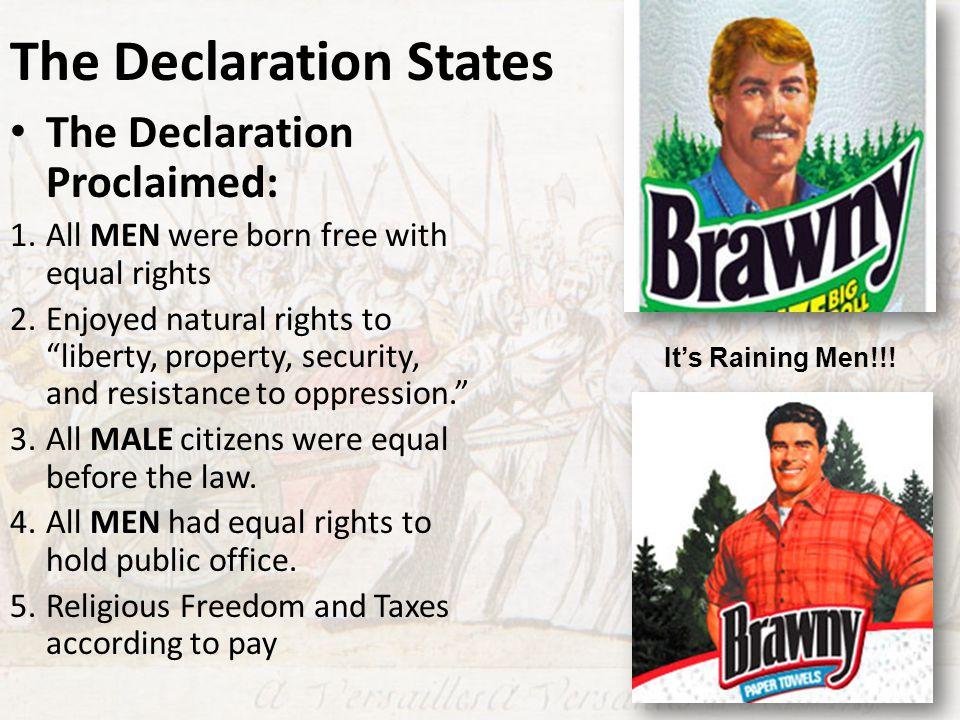 The Declaration States