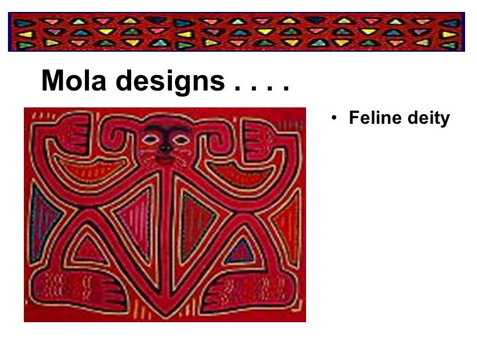 Mola designs . . . . Feline deity