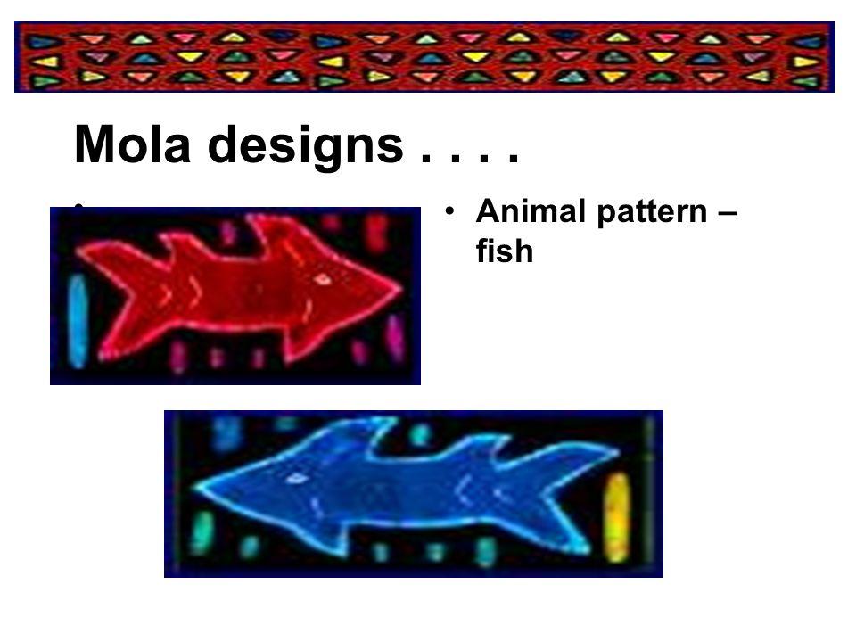 Mola designs . . . . Animal pattern – fish