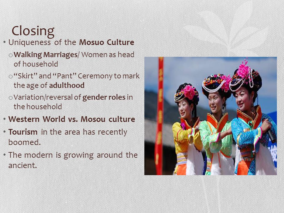 Closing Uniqueness of the Mosuo Culture