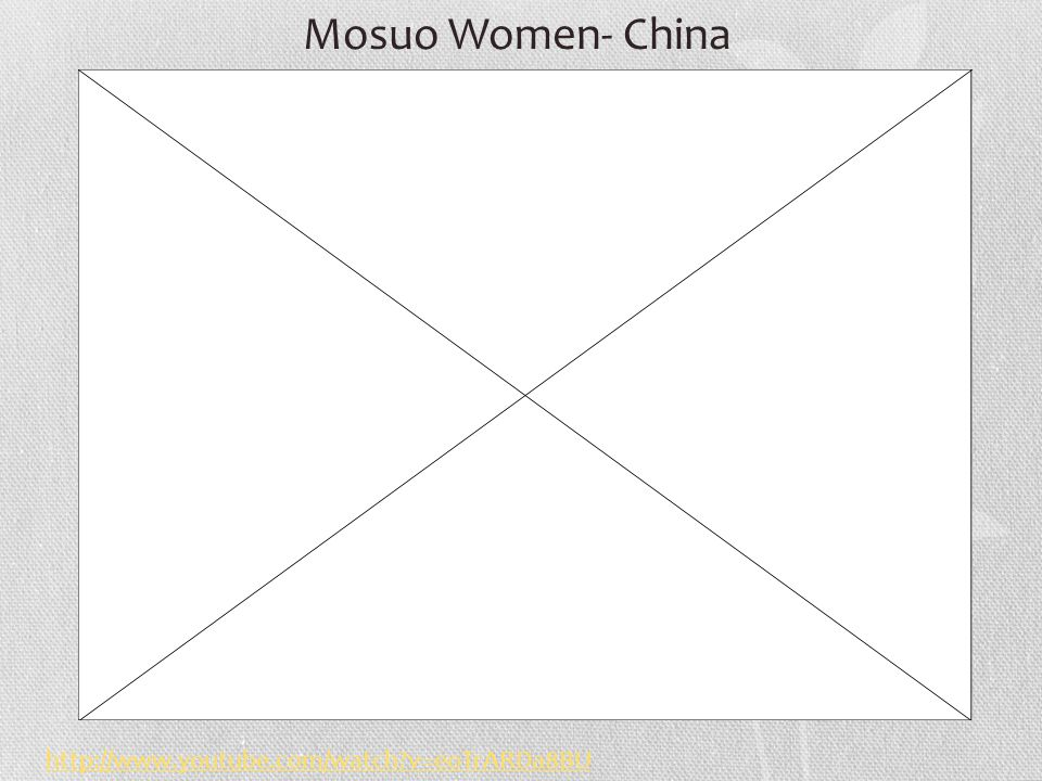Mosuo Women- China http://www.youtube.com/watch v=eoTrARDa8BU
