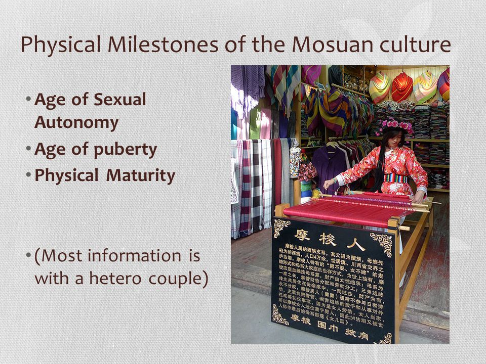 Physical Milestones of the Mosuan culture