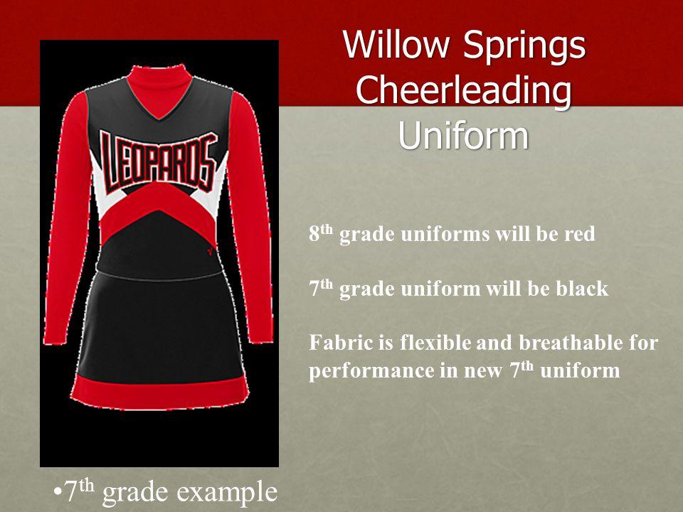Willow Springs Cheerleading Uniform