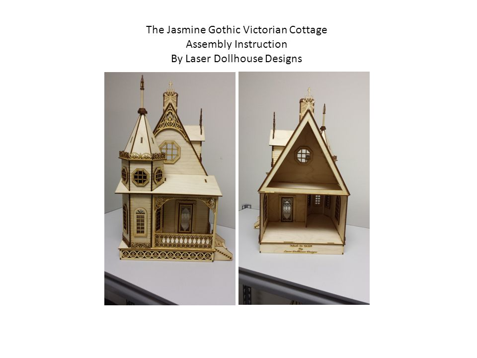 The Jasmine Gothic Victorian Cottage Assembly Instruction