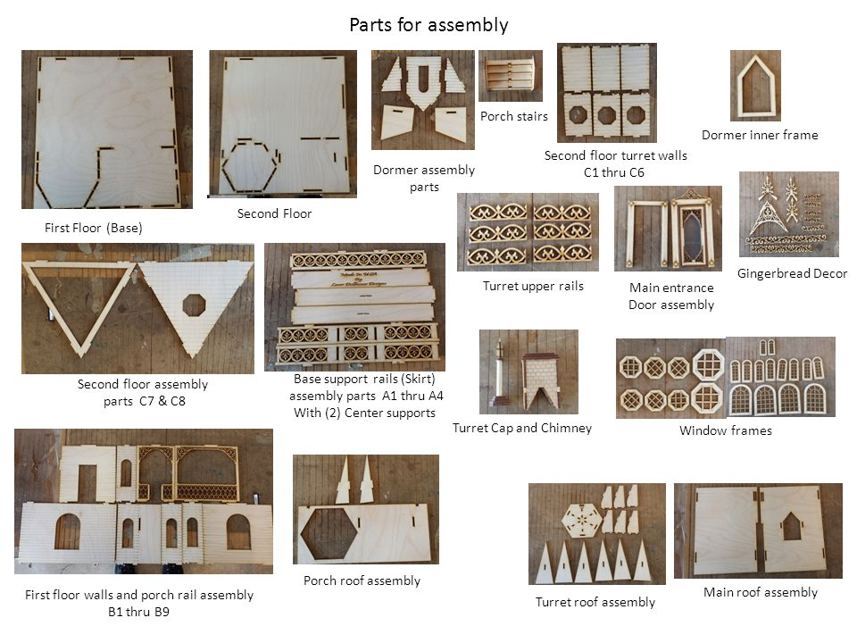 Parts for assembly Porch stairs Dormer inner frame