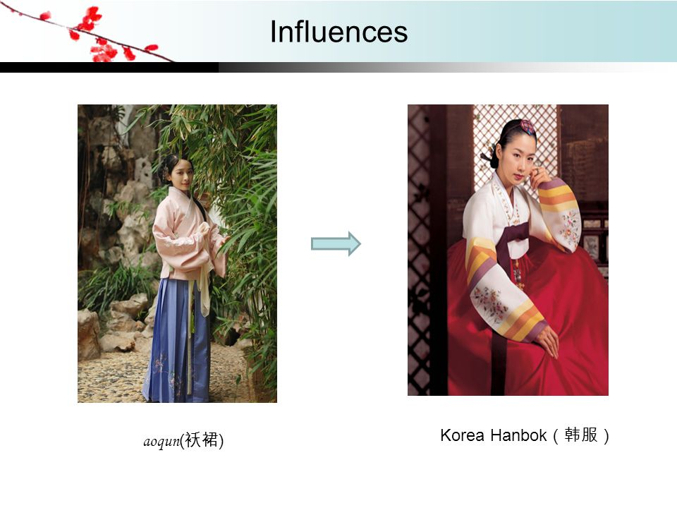 Influences Korea Hanbok(韩服) aoqun(袄裙)