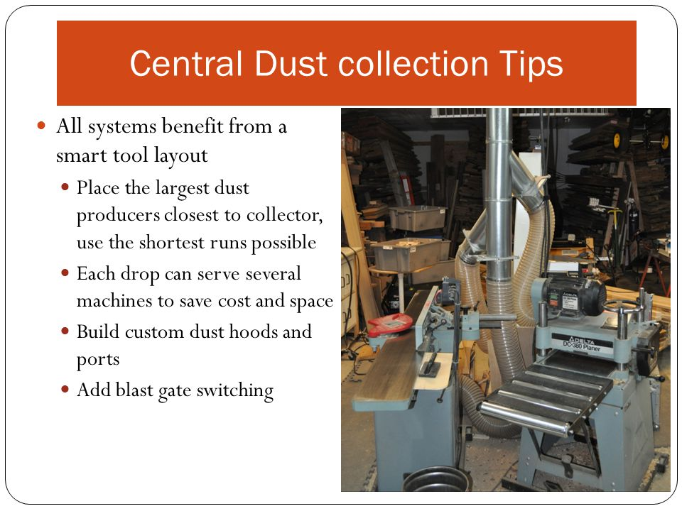 Central Dust collection Tips