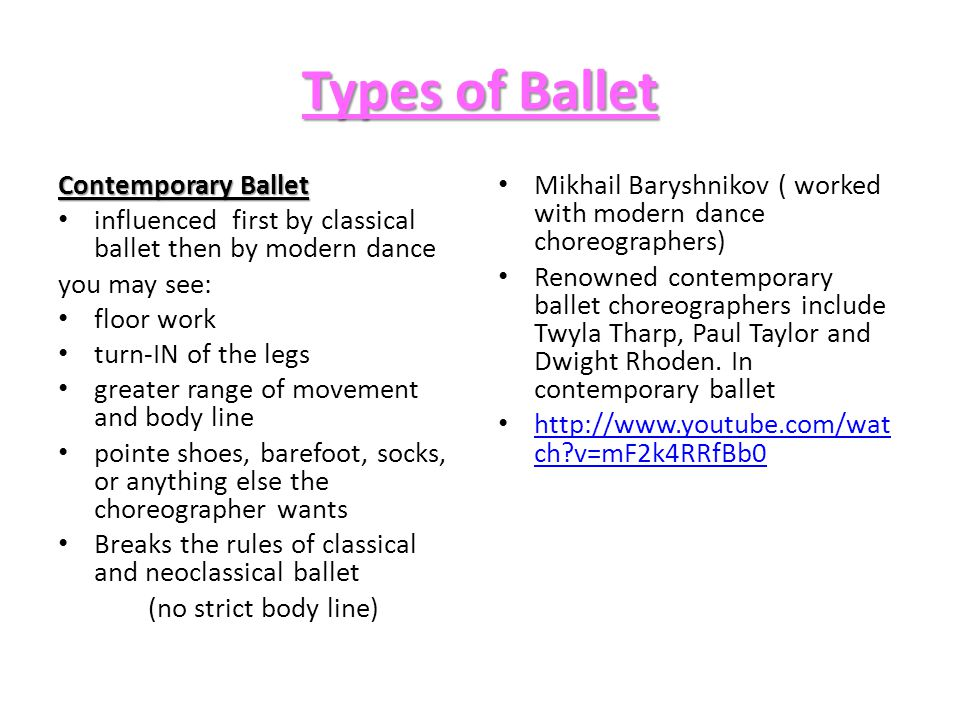 Types of Ballet Contemporary Ballet