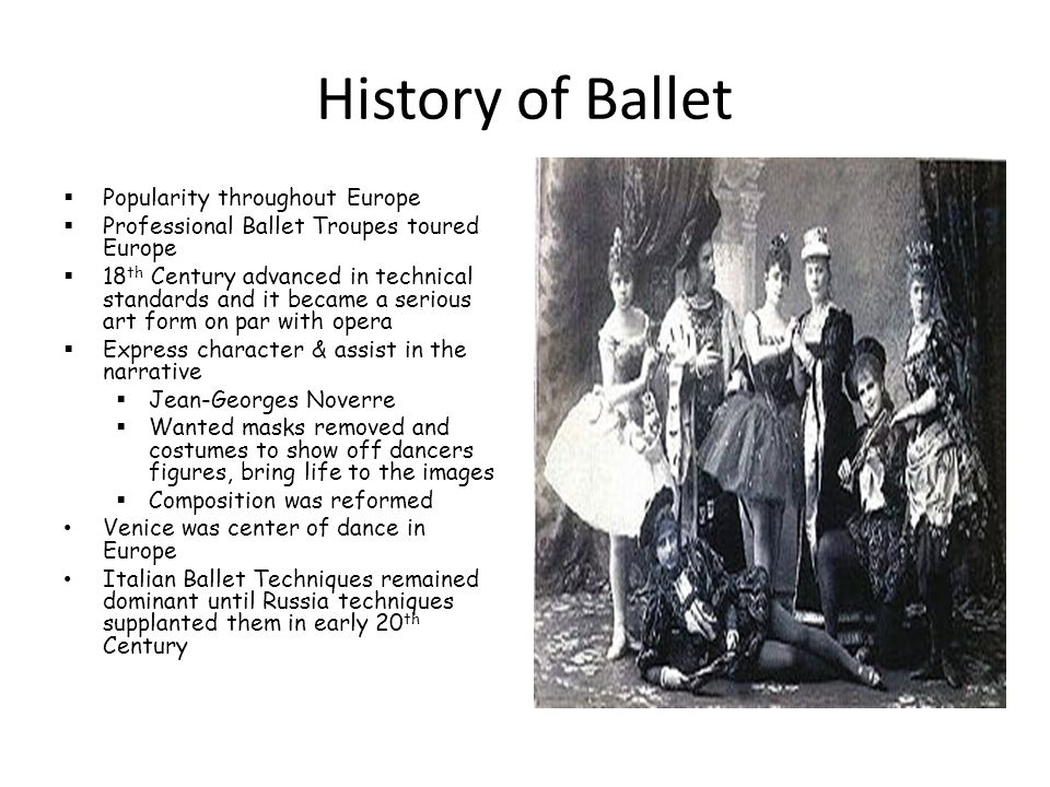 History of Ballet Popularity throughout Europe