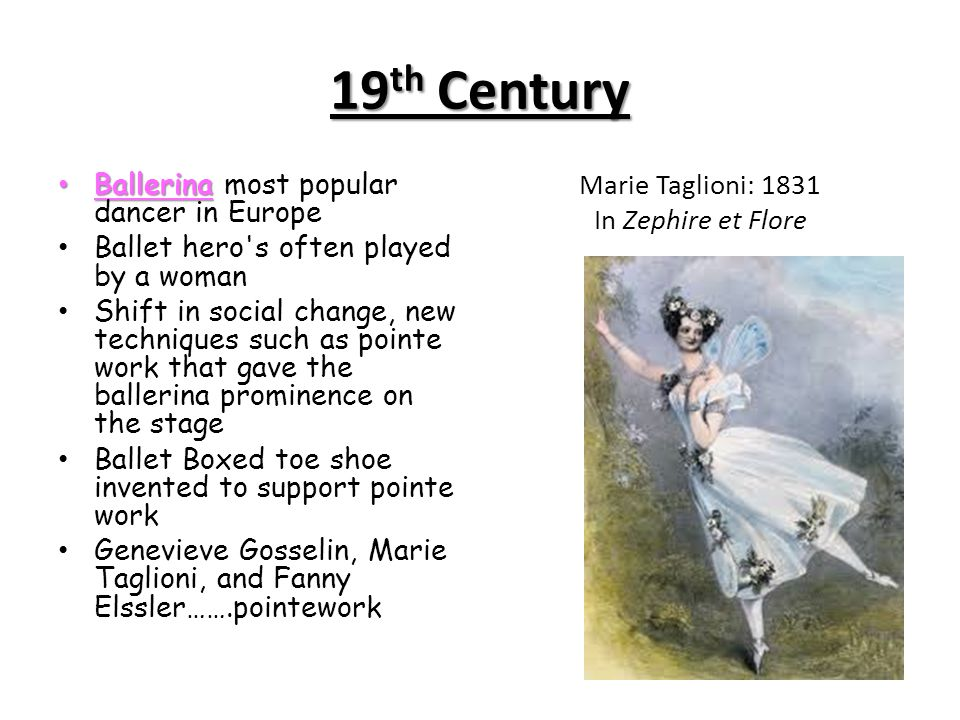 Marie Taglioni: 1831 In Zephire et Flore